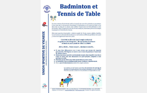 BADMINTON ET TENNIS DE TABLE